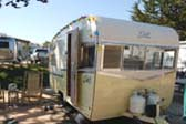 Vintage 1962 Shasta Travel Trailer Painted Creamy Pastel Yellow
