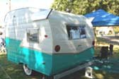 Turquoise & White 1963 Shasta Compact Trailer With Wonderful Ribbed Wings