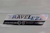Vintage 1963 Traveleze trailer has an awesome new Traveleze reproduction sticker on the side