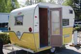 Image shows a wonderful Aladdin vintage trailer made by the Aladdin Trailer Company in Oregon during the 1960's