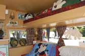 Great interior decorations and accessories in a vintage Aladdin travel trailer