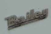 Vintage 1970 Bailey trailer from England, has the original Bailey logo script trim
