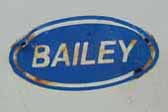 Oval Bailey logo graphics decal on a 1970 Bailey caravan made in the U.K.