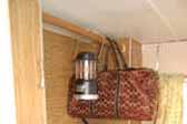 Roomy 1972 Little Scamp trailer even has a closet bar for hanging your clothes or a Coleman lantern