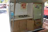 Photo of large kitchen area in back of 1972 Little Scamp trailer