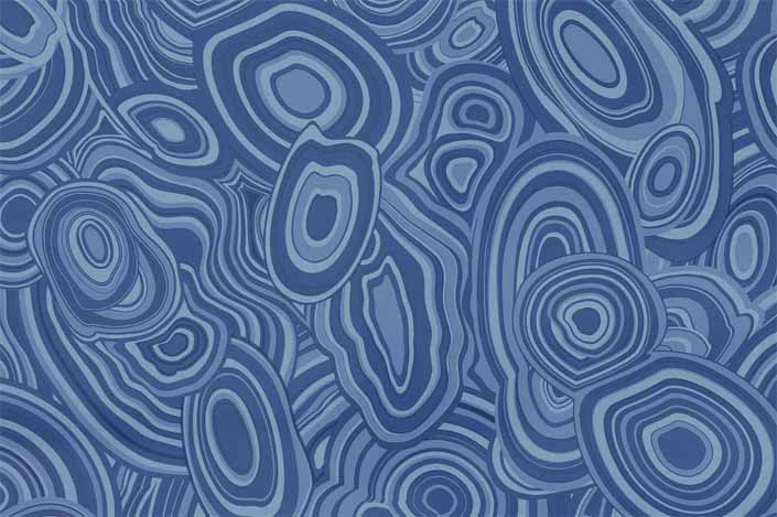 Retro formica laminate sample chip; Blue Malachite pattern #9495