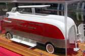 This scale model shows how the Parade of Progress Futurliner buses originally looked when they were built and outfitted by GM in the 50's
