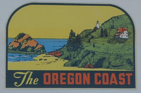 Classic Vintage Souvenir Travel Decal from the beautiful Oregon Coast