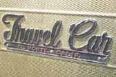 Vintage Streamline Travel Car trailer with Streamline Travel Car logo script trim on the side from El Monte, Calif