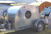 Aluminum Teardrop Trailer Setup and Ready For Camping