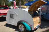 Retro Teardrop Trailer With Cool Fenders, and Great Kitchen Cabinets