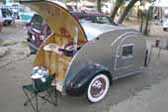 Classy Aluminum Teardrop Trailer With Beautiful Birch Kitchen Cabinets