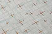Original White Mid Century Laminate Star Pattern Sample Chip