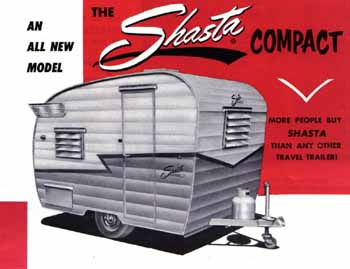 Original dimensions, features and specifications for the Shasta Compact Vintage Trailer