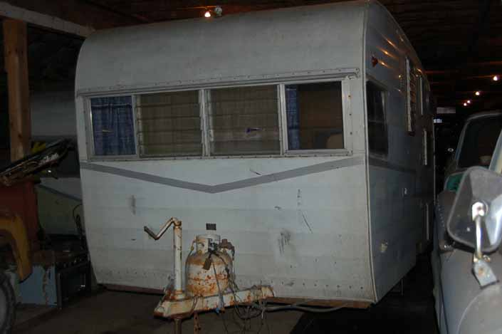 Original 1961 Shasta Airflyte trailer in storage and ready for a full restoration