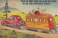 Vintage trailer humor postcards
