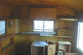 Classic 1948 Westcraft Westwood Trailer interior paneling and woodwork, in a Vintage Trailer Storage Yard