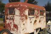 Rare and rusty 1936 Covered Wagon trailer is still very restorable