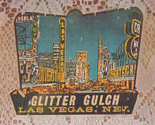 Las Vegas, Nevada Vintage Travel Decal with nicjname: Glitter Gulch