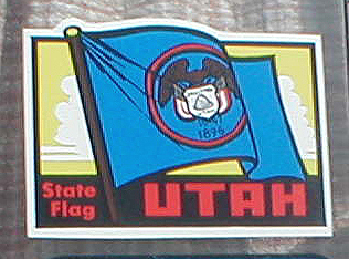 Vintage Travel Decal commemorates Utah's State Flag